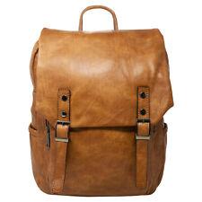 Vintage Faux Leather Unisex Backpack Children Adult Gym Rucksack School Bag 915