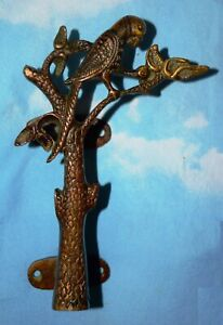 Brass Red Tree Parrot Figure Door Handle Unique Home Front Door Handle MJ192