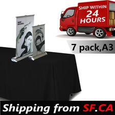 7 pack,11-1/2 x 17 in (A3),Mini Table Top Retractable Banner Stand - Stand Only