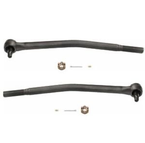 DS1289 2pc Set: Front Inner Tie Rod Drag Links for Ford E-250 Single Rear Wheels