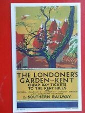 POSTCARD THE LONDONER'S GARDEN - KENT - CHEAP DAY TICKETS TO THE KENT HILLS