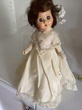 """Vintage Pma? Plastic Molded Arts Hard Plastic 12"""" Bride Doll All Original Ginny"""