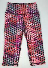 VICTORIA'S Secret VSX Sport KNOCKOUT Crop STRETCH Capri ACTIVE Pants PINK Sz S