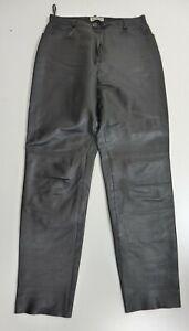"""""""TOFFS"""" Damen Leder Hose Jeans weiches Lamm Nappa Gr. 42 schwarz"""