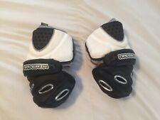 Maverik Lacrosse Elbow Arm Pads Size Large Black White Rome Shark Gel