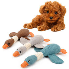 Cute Pet Puppy Chew Squeaker Squeaky Plush Sound Pig Elephant Duck Dog Play To