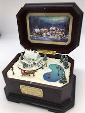Thomas Kinkade Holiday Gathering Wood Music Box #A7966 2002
