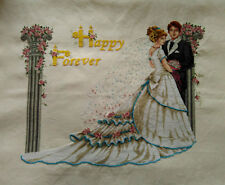 HAND MADE New Finished Completed Cross Stitch - Wedding - Happy Forever - P53