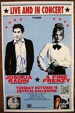 Signed JOSHUA RADIN Gig POSTER In-Person w/proof Autograph Concert