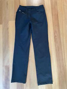 Chervo Ladies Black Winter Golf Pants, Sz 40 IT Or Aus 8