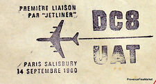 1960 DC8 UAT  PARIS SALISBURY RHODESIE   Airmail Aviation premier vol AC04