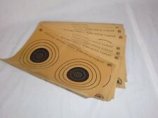 12 Vtg NRA Official 50 Yd Small Bore Rifle Targets Outers Lab A-10 Cabin Decor