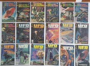 UFO FLYING SAUCERS / & OUTER SPACE #2-25 GOLD KEY RUN LOT Sci-Fi HI GRADE