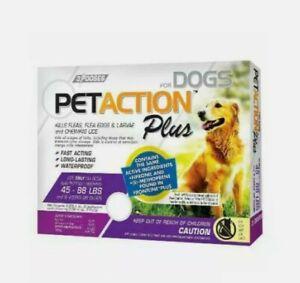 Pet Action Plus Dog Flea & Tick Applicators, Large Dogs, 3-Doses