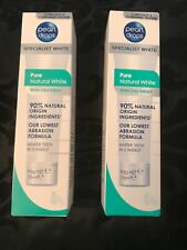 Pearl Drops Pure Natural White Toothpolish with White Clay Extract 75ml X2 Units