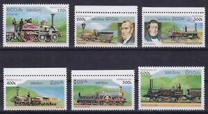Laos  1554 - 1559 **, Dampflokomotiven / Steam Locomotives (10 ME)