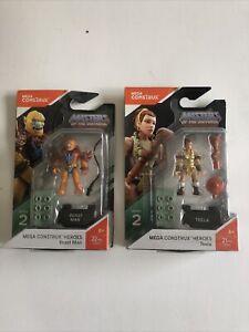 New! Mega Construx Masters of the Universe Series 2 Teela & Beast Man lot of 2 F