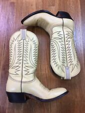 Nocona Womens Cowboy Boots Sz 7 Western Folk Indie Shoes Boho Cowgirl Leather