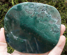Large Polished Green Moss Agate Crystal Slice. Ref:9.MAS crystals minerals