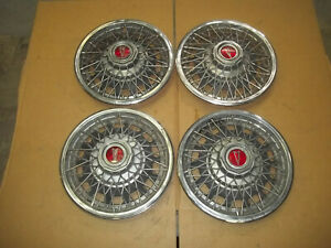 "80 81 82 Pontiac Phoenix Hubcap Rim Wheel Cover Hub Cap 13"" WIRE SPOKE OEM SET 4"