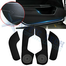 Carbon Fiber PU Leather Anti Kick Pad Door Protector Trim For Honda Civic 16-21