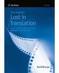 Senior English Study Guide Top Notes Lost in Translation
