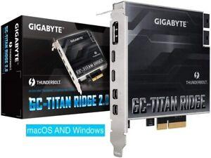 Gigabyte GC-Titan Ridge 2.0 Thunderbolt 3 USB-C flashed Mac Pro 5,1 BootScreen