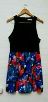 SASS Label Womens Multicolored Geometric Party Dress Size 14