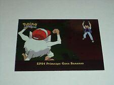 EP24 Primeape Goes Bananas Foil Holo 2000 Topps Pokemon Series 2 Episode Card