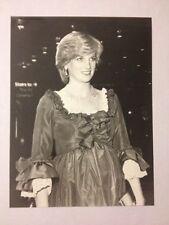 PRINCESS DIANA BLACK WHITE PHOTO PREGNANT BARBICAN GALA JUNE 1982 Silk GOWN