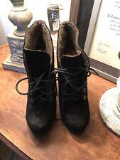 LUXURY REBEL black Leather Boots Booties 39.5 EU 9.5 Womens