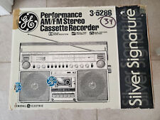 VINTAGE GE GENERAL ELECTRIC  3-5286 BOOMBOX BLOCKBUSTER GHETTO BLASTER RADIO