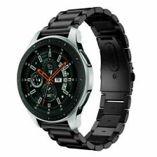 Black Stainless Steel Watch Band Metal Strap for Samsung Galaxy Watch 42/46mm UK