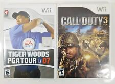 Call Of Duty 3 & Tiger Woods PGA Tour 07 for Wii - Golf & FPS Shooter