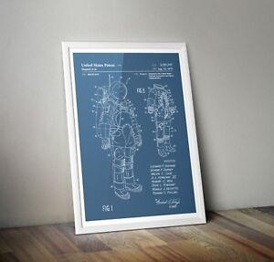 NASA Blueprints/ Space Suit US Patent Print Apollo A3 A4 Reproduction Art Poster