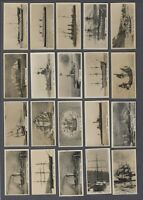 1929 Carreras Notable Ships Past & Present Tobacco Cards Complete Set of 25