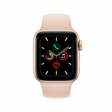 Apple Watch Series 5 GPS 40mm Aluminiumgehäuse gold Sportband sandrosa
