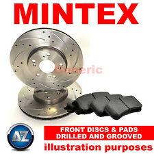 Per CITROEN c2 1.6 VTS Anteriore Perforati & Scanalati Dischi Freno Pastiglie Set Kit 266mm