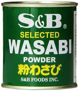 Japanese S&B Foods Selected Wasabi Powder Horseradish Can 1.06 oz Made in Japan