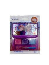 Disney Frozen 2 Blueberry Flavoured Lip Gloss with Brush and 3 Coloured