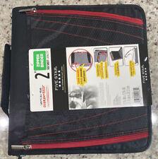Five Star 2 Inch Zipper Binder, 3 Ring Binder, 3-Pocket Expanding File, Red