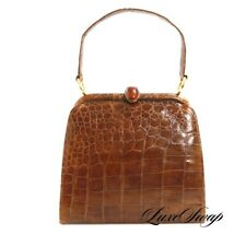 Vintage Lilly Shoritz Kowloon Hong Kong Genuine Alligator Crocodile Exotic Bag