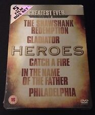 GREATEST EVER HEROES 5 DVD SteelBook PHILADELPHIA SHAWSHANK GLADIATOR CATCH FIRE