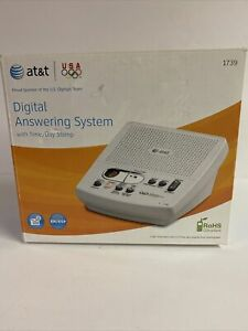 NEW AT&T Corded Digital Answering System  White W/ English And Spanish Prompts!