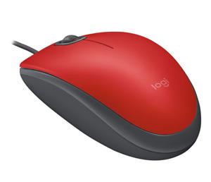Logitech m110 Silent Mouse USB Red 1000dpi optical