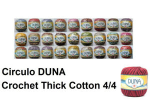 Circulo DUNA 4/4 Crochet Cotton Thick Thread Yarn Solid and Random 100g 170m