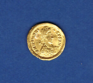 MONNAIE ROMAINE OR.SOLIDUS Honorius 404/408 Poids 4,29 grs 900 ‰.ø 22 mm.A1986
