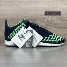 Nike Free Inneva Woven UK 9 2013 Black Poison Green Sail White