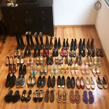 LOT OF 51 PAIRS OF SHOES - SANDALS, FLATS, HEELS AND BOOTS