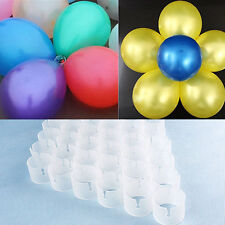 Balloon Clips 50pcs Round Connectors DIY Arch Wedding Party Prom